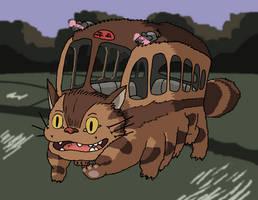 My Neighbor Totoro - Catbus by Juggernaut-Art