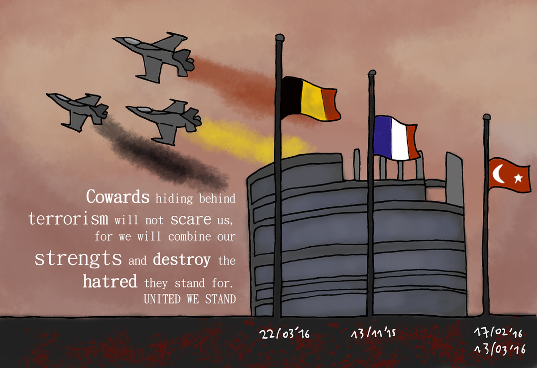 United we stand belgium 22 03 by juggernaut art on for Stand belgique