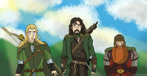 Looking for the Hobbits - LOTR Ghibli Style