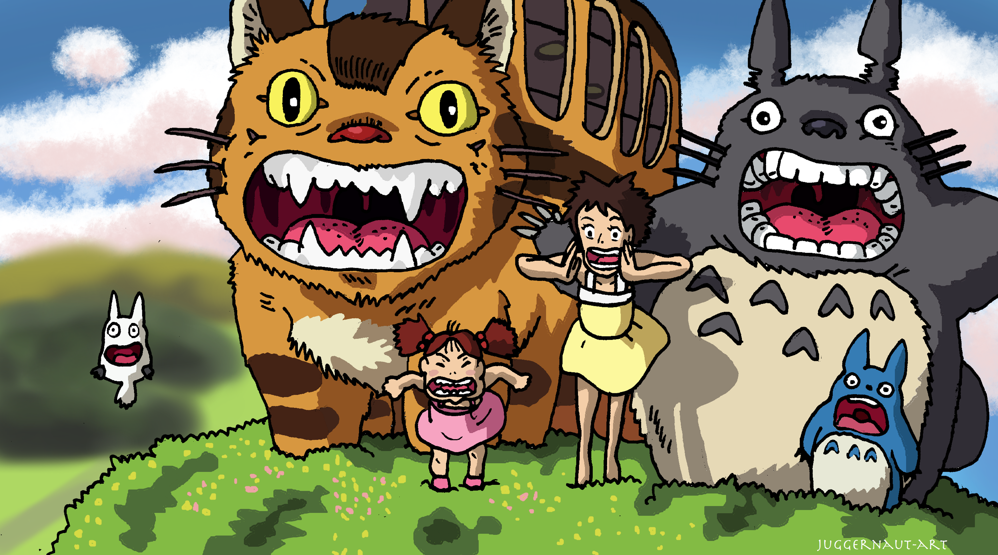 My Neighbor Totoro Roar: Roar At The Wind By Juggernaut-Art On