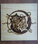 Vaatu and Raava - Pyrography