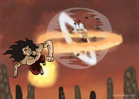 Aang vs the Fire Lord by Juggernaut-Art