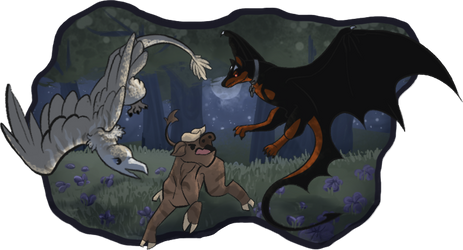 Unlucky buck [DracoStryx - Hunting]