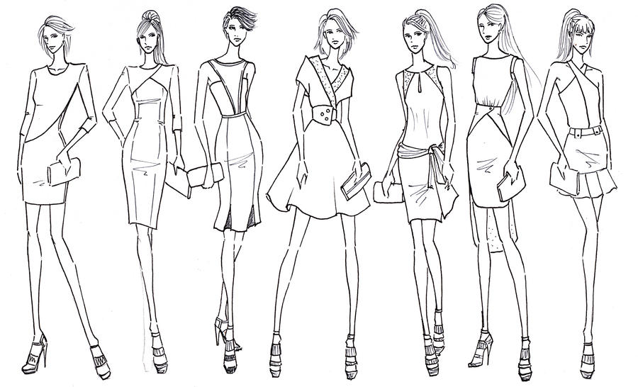 Office wear fashion sketch by blueryan