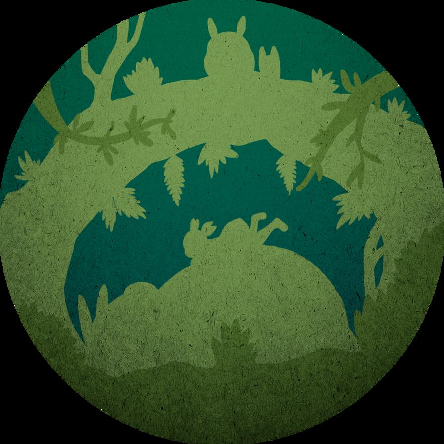 Totoro - Tree Hollow by CrayGayola