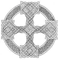 Celtic Cross lineart by maggiebr