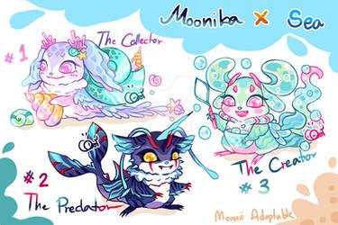 [OPEN 1/3] Mini Moonika Sea Series by MooniiAdopt