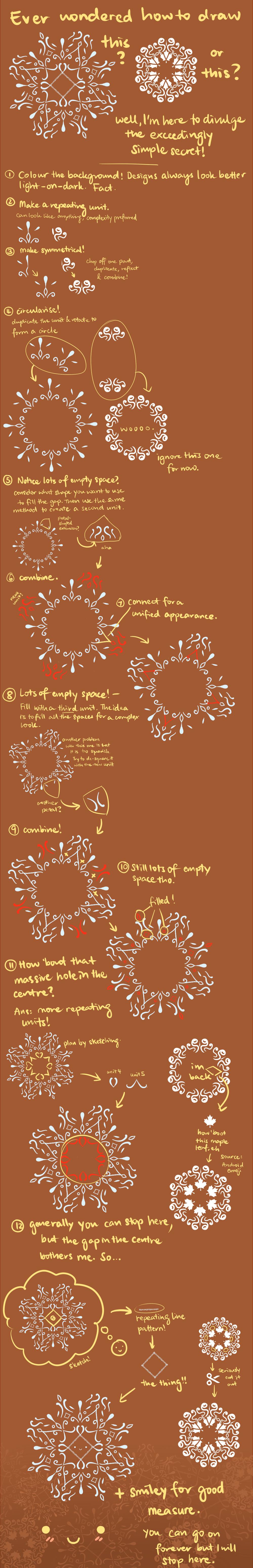 Flowery design tutorial by Sword-Dance