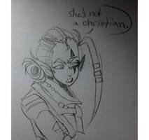 she's not a christian