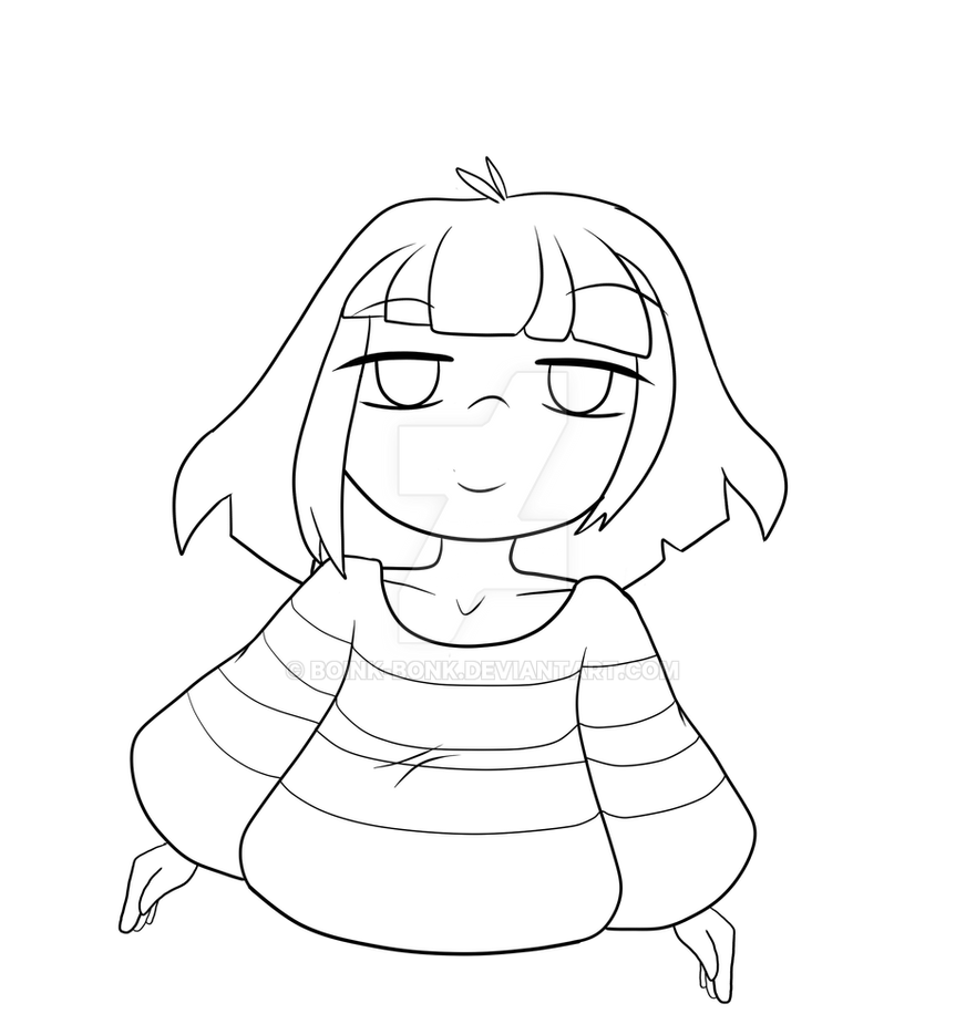 Undertale Frisk Coloring Pages