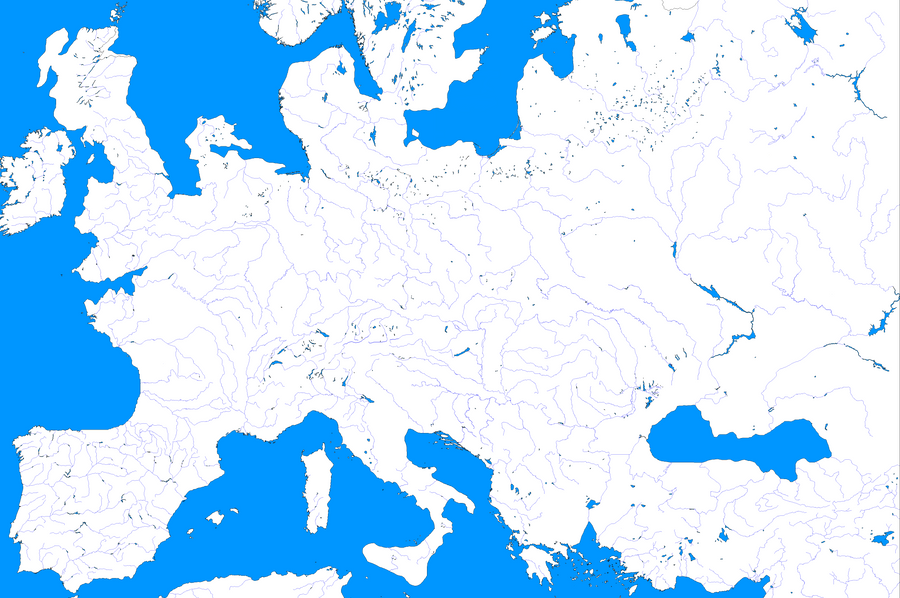 Europe Ice Age Template Map by zalezsky on DeviantArt