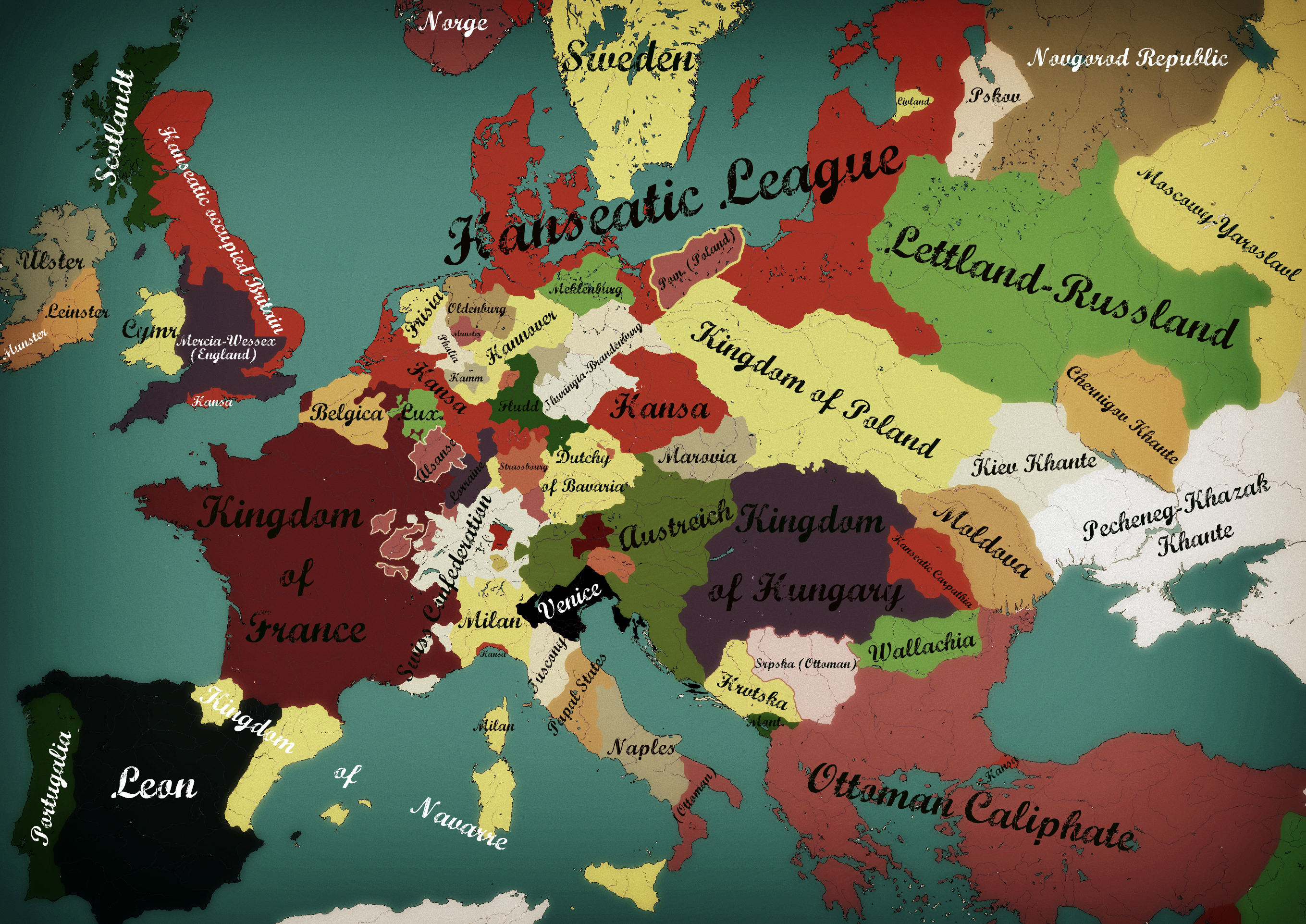 ... Alternate Europe: Hansa 1500 By Zalezsky