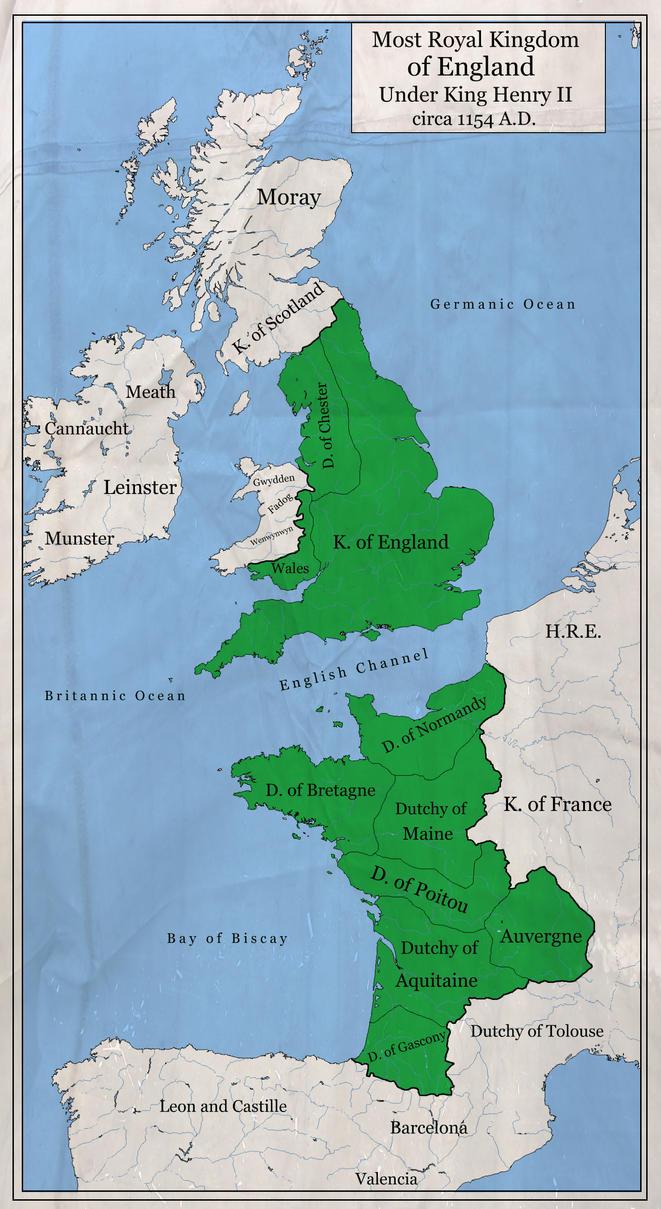 Most Royal Kingdom of England 1154 A.D. by zalezsky