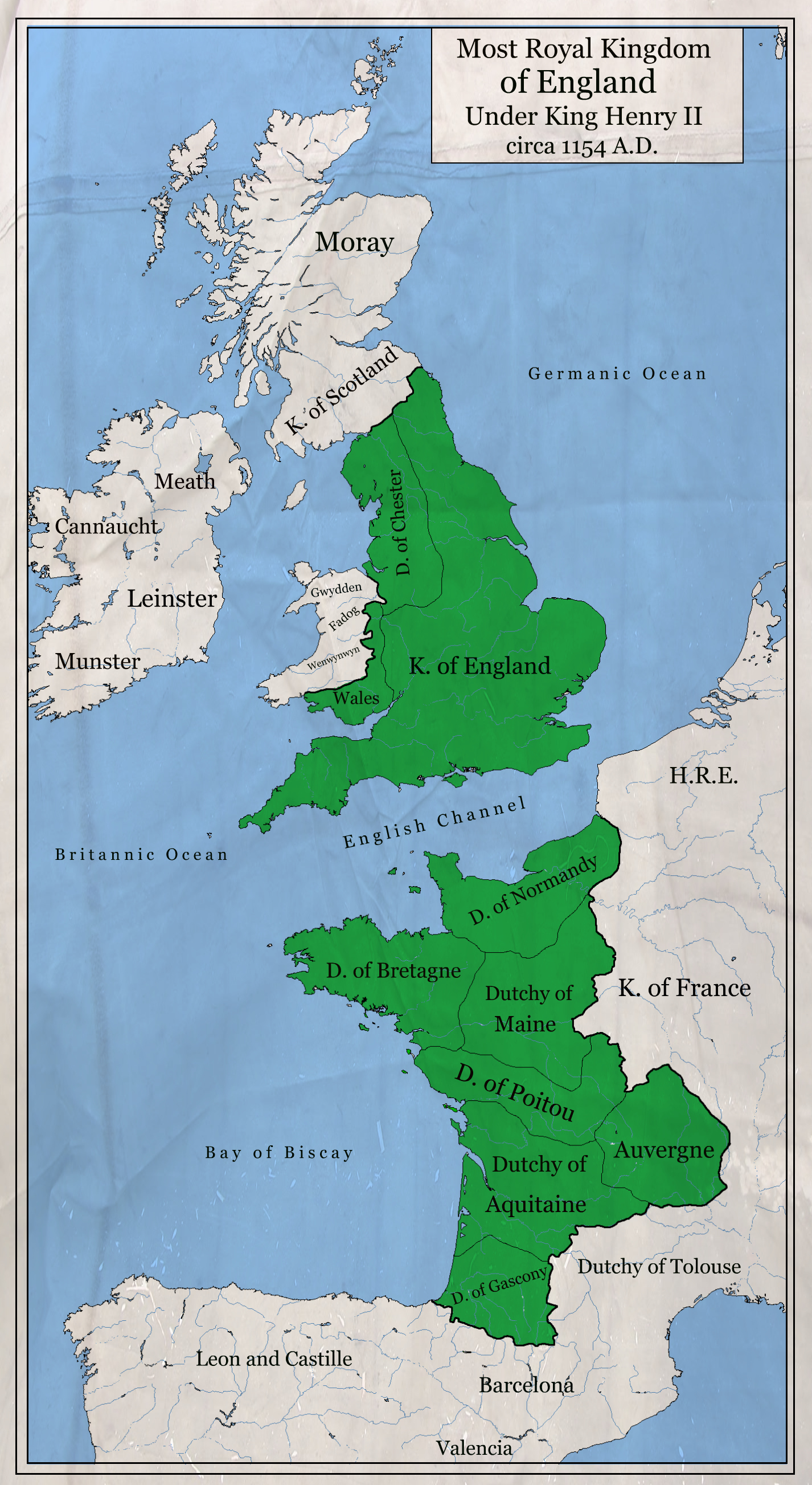 Most Royal Kingdom of England 1154 A.D. by zalezsky