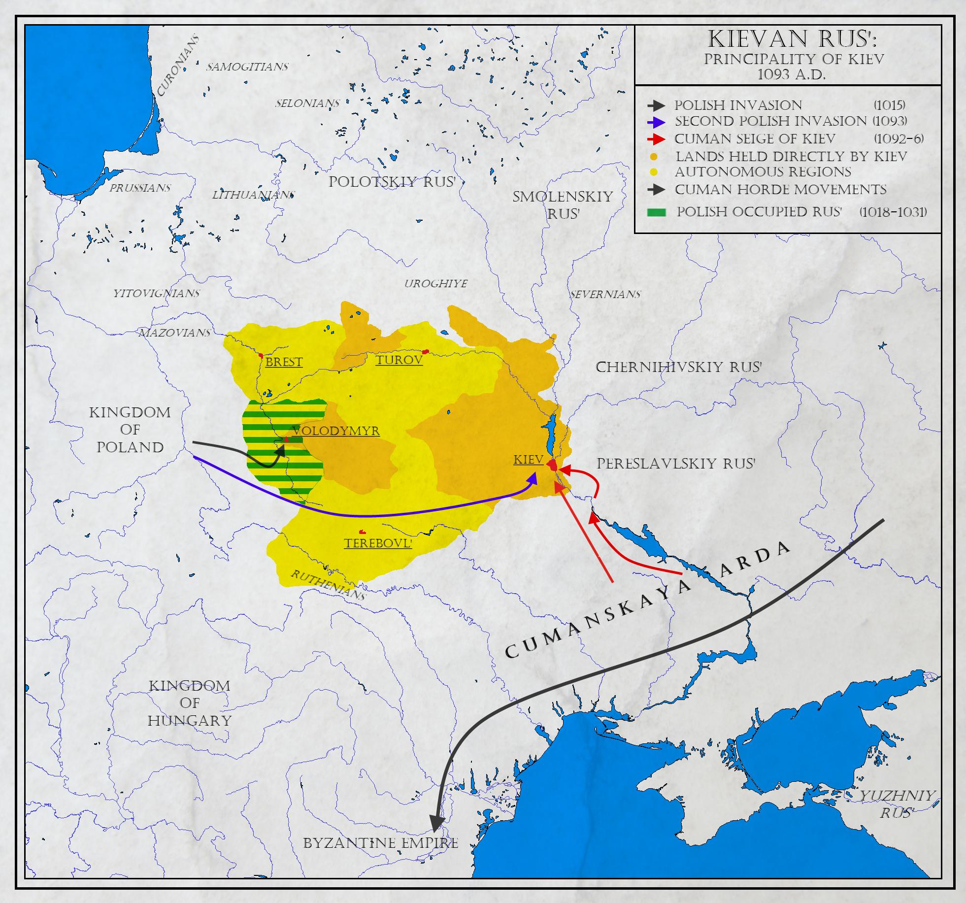 Russia Map Kiev