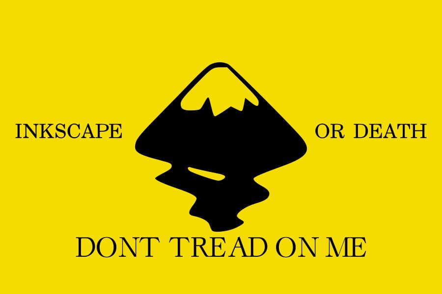 Gadsden Flag: Inkscape Version by zalezsky
