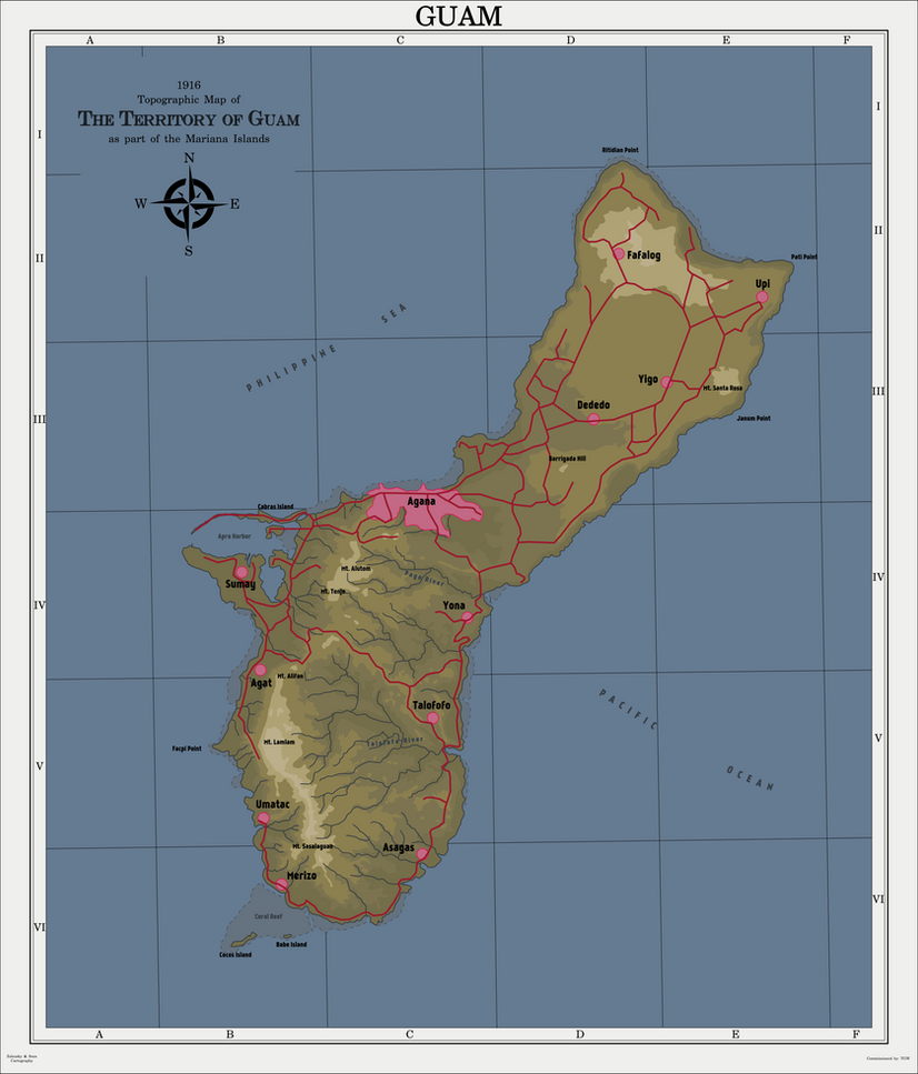 American Territory of Guam - 1916 by zalezsky