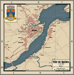 Map of Quebec City by zalezsky