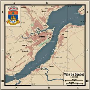Map of Quebec City