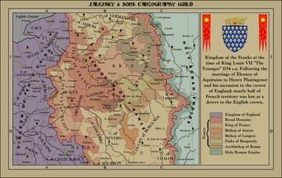 Kingdom of France 1154 C.E. by zalezsky