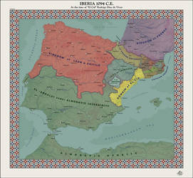 HAoE: Iberia at the time of El Cid 1094 C.E. by zalezsky
