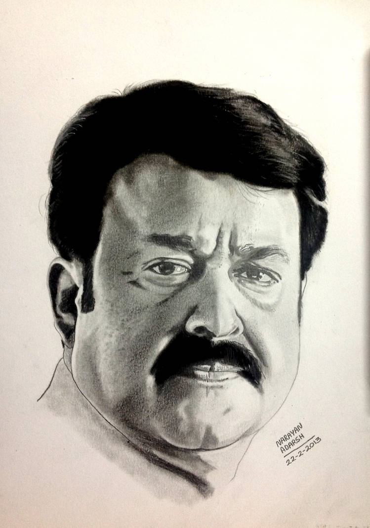 Mohanlals pencil drawing by narayanjoy