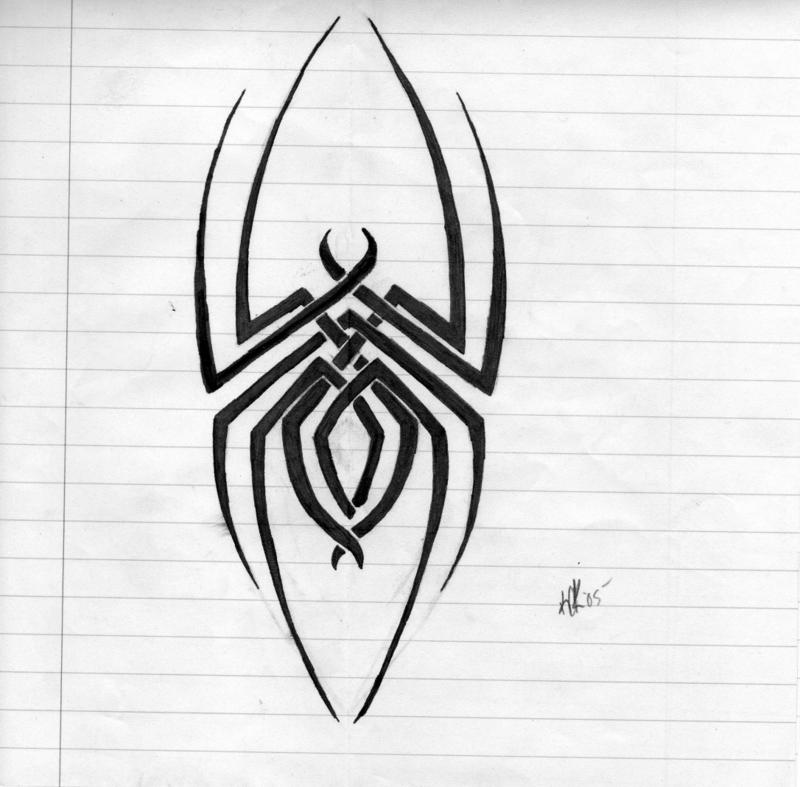 tribal line spider by deathangelsday on deviantart  deviantart