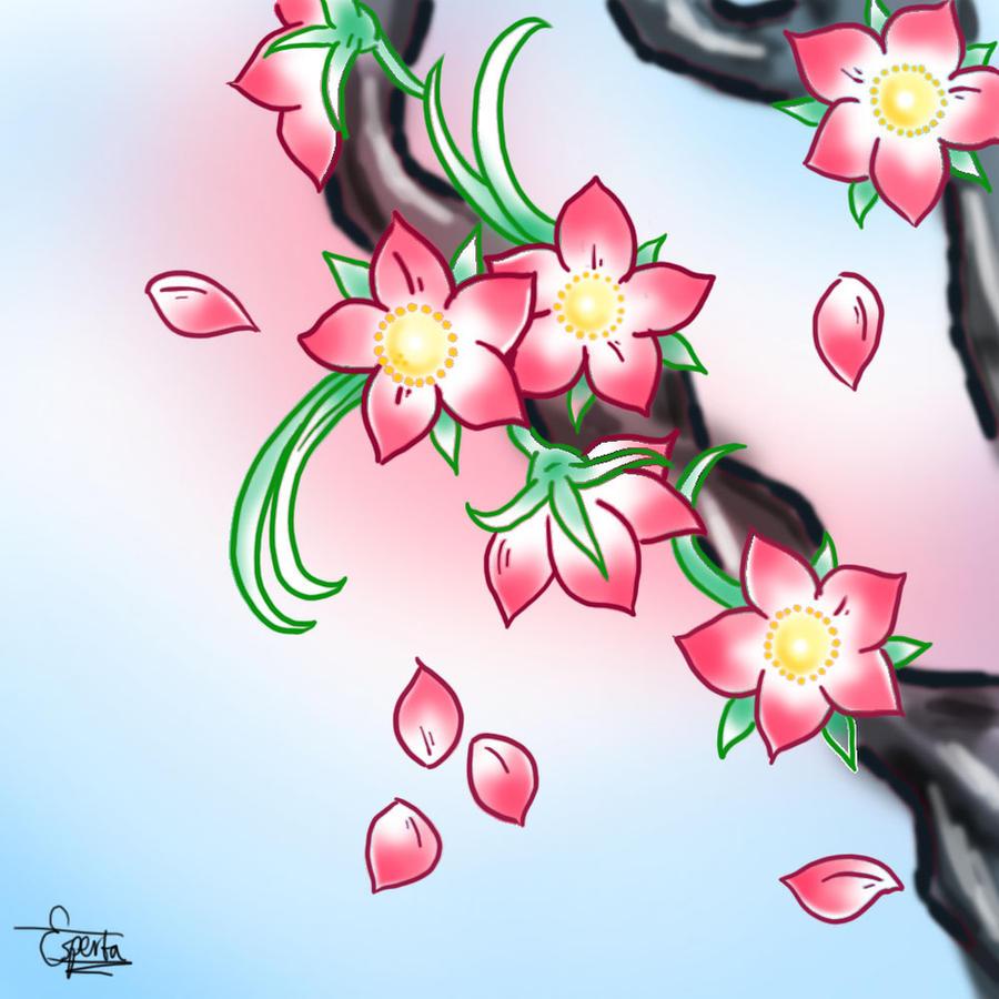 Japanese Flowers Drawings