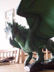 Green DnD Dragon sculpture