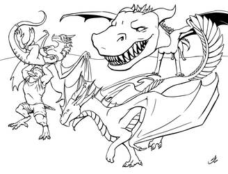 Dragons and Friends 2 (coloring book page 25)