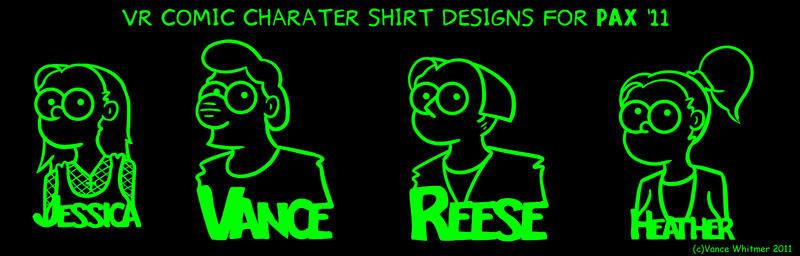 VR Comic PAX shirt designs