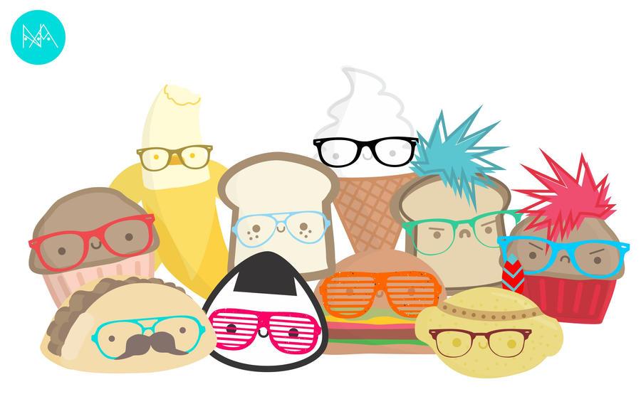 Kawaii Hipsters by natalia-factory
