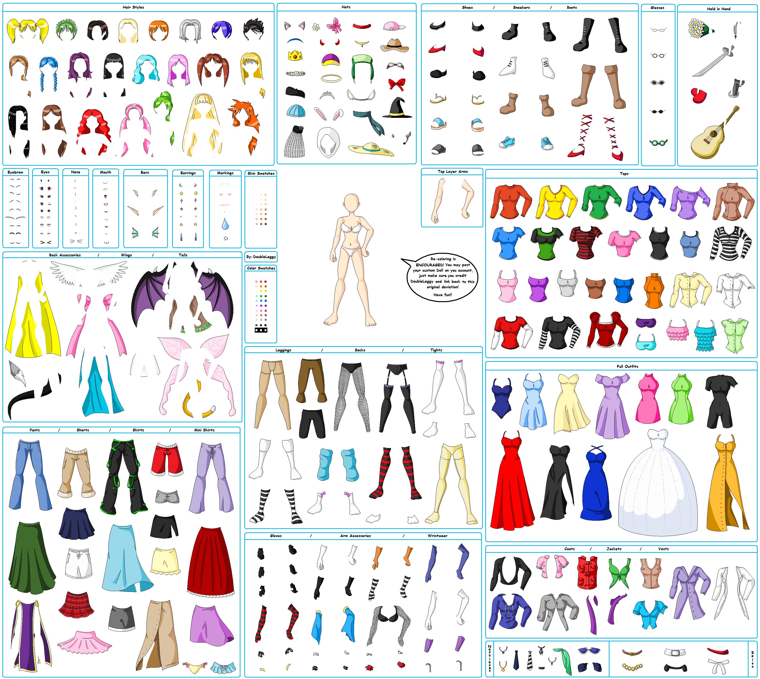 MS Paint Anime Doll Maker by DoubleLeggy on DeviantArt