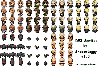 RE3 + Monster Sprites v1.0 by DoubleLeggy