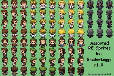 RE Side Character Sprites v1.0 by DoubleLeggy