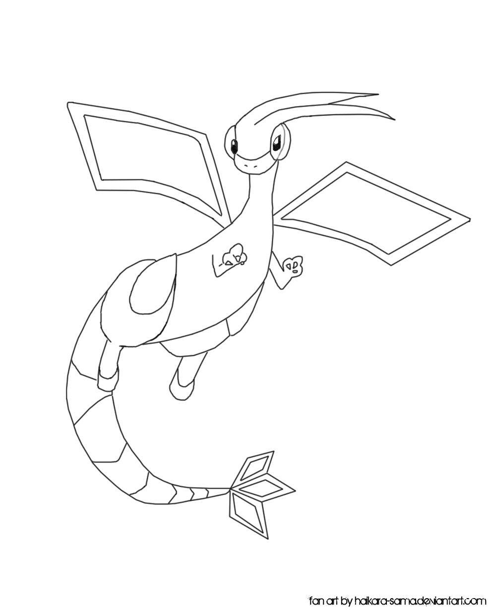 flygon coloring pages - photo#4