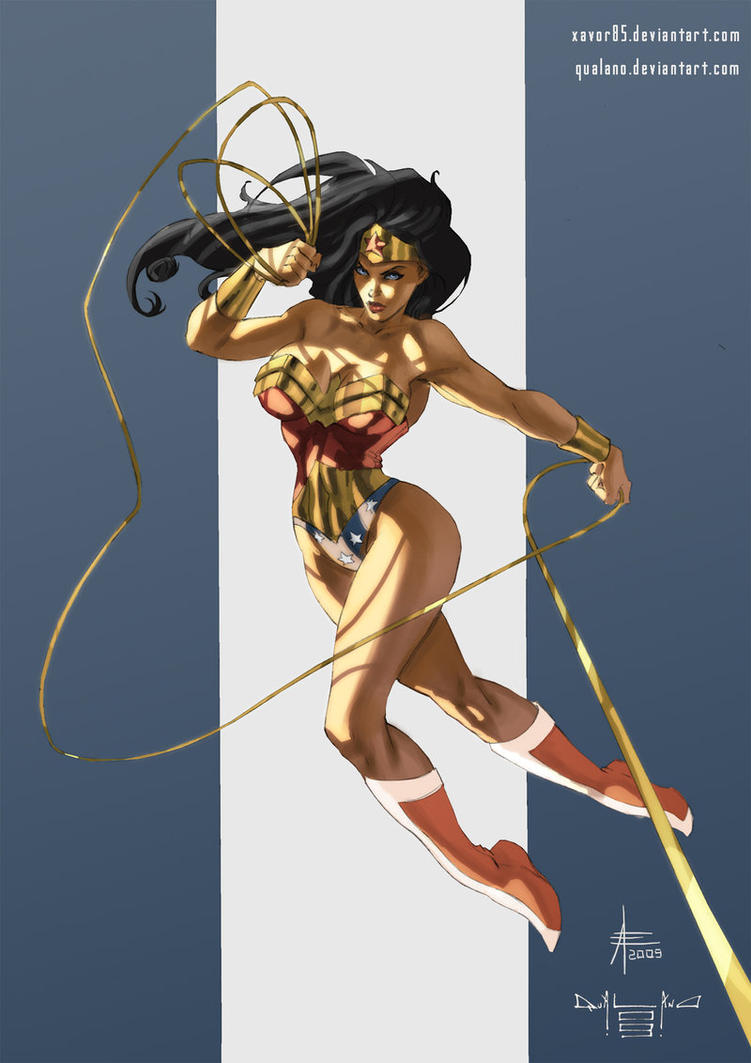 Wonder Woman color by qualano