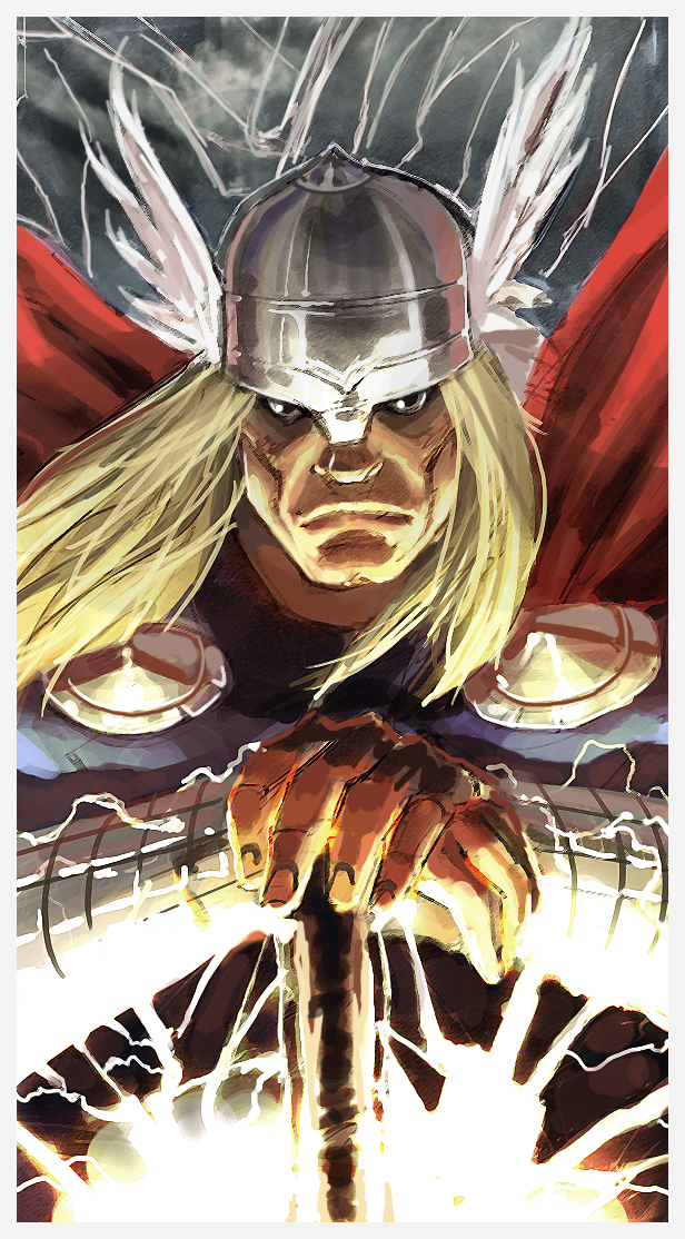 Part 14 / 8 - Page 2 Thor_sketch_Color_by_qualano