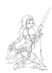 Lady Meckanika pencil by qualano