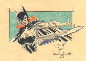 Batgirl sketch by qualano