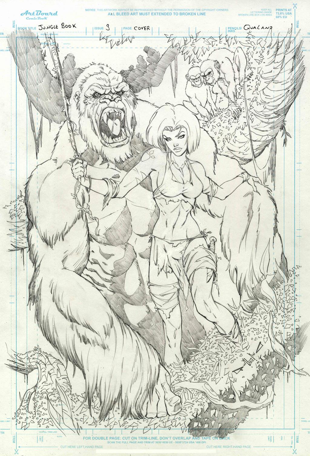 Jungle Book  3 cover by qualano