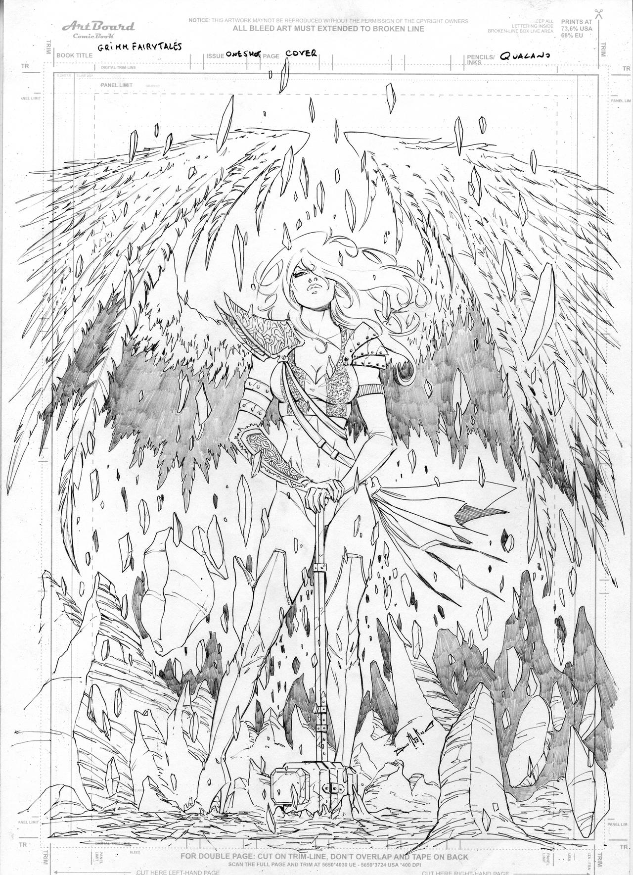 grimm fairy tales angel cover by qualano on deviantart