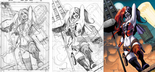 Harley Quinn commission WIP
