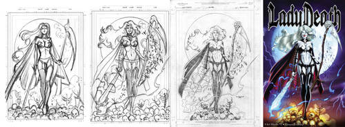Lady Death  Cover  step by step by qualano