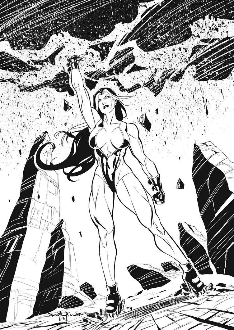 Red-She-Hulk by qualano