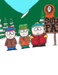 Stan, Kyle, Cartman and Kenny by zacharyknox222