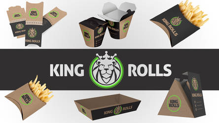 Fast Food Logo Design Brand Identity Packaging by Andrei-Petrache