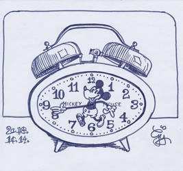 Inktober 2018 Clock by Hypppy