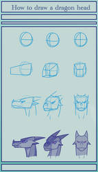 How to basically draw a dragon head by SeasonsParadise