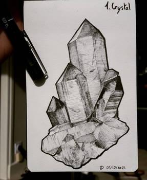 Inktober 2021 Day 1 : Cristal